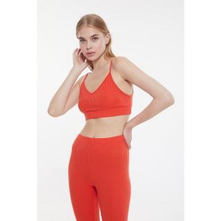 Trendyol Orange Camisole Knitted Pajamas Set dámské XS