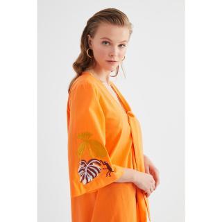 Trendyol Orange Embroidery Detailed Kimono & Kaftan dámské 34