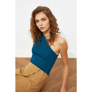 Trendyol Petrol Single Shoulder Strap Knitwear Blouse dámské S