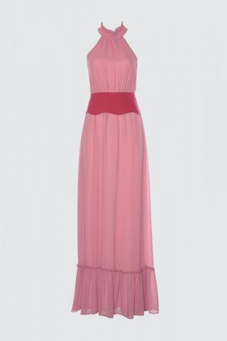Trendyol Pink Arched Evening Dress & Graduation Dress dámské 34