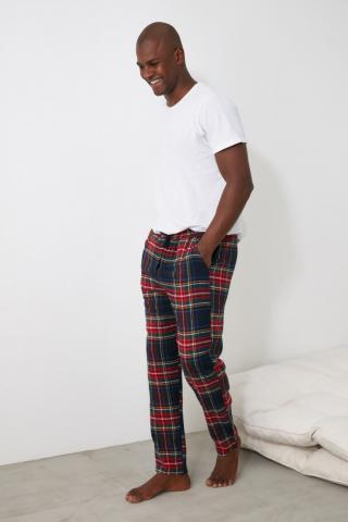 Trendyol Plaid Woven Pajamas bottom pánské Multi S