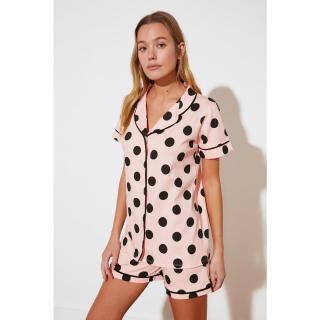 Trendyol Polka Dot Knitted Pajamas Set dámské Very colorful M