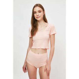Trendyol Powder Camisole Knitted Bottom-Top Set dámské XL