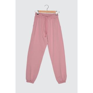 Trendyol Powder Jogger Knitted Tracksuit bottom dámské powder pink L