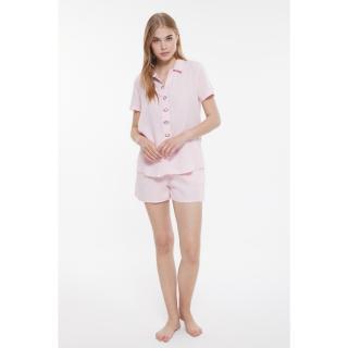 Trendyol Powder Satin Pajamas Set dámské 34