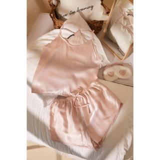 Trendyol Powder V-Neck Satin Pajamas Set dámské 40