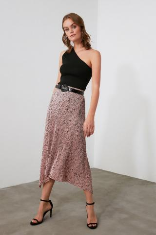 Trendyol PowderEd Pleated Knitted Skirt dámské powder pink XS