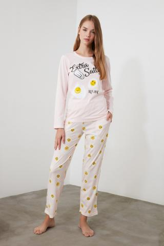 Trendyol Printed Knitted Pajama Set dámské Multi XS