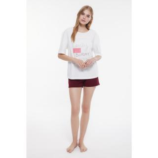 Trendyol Printed Knitted Pajamas Set dámské Very colorful XS