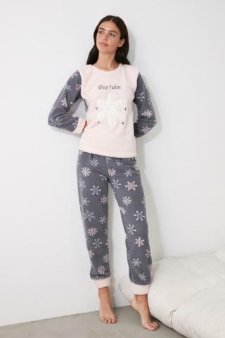 Trendyol Printed Wellsoft Pajama Set dámské Multi S