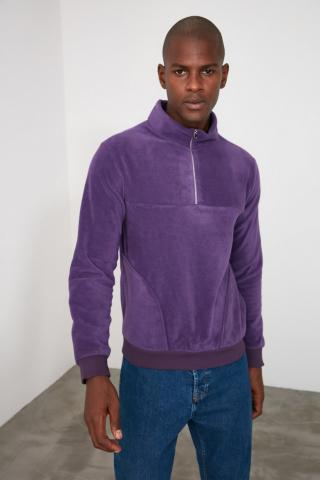 Trendyol Purple Mens Sweatshirt pánské S
