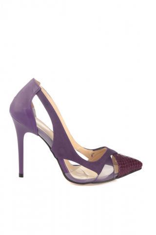 Trendyol Purple Transparent Detailed Womens Classic Heels dámské 39