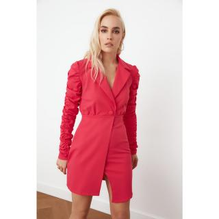 Trendyol Push-up Sleeve Jacket Dress dámské Fuchsia 42