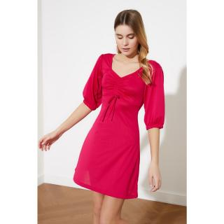 Trendyol Pushhya Knitted Dress dámské Fuchsia M