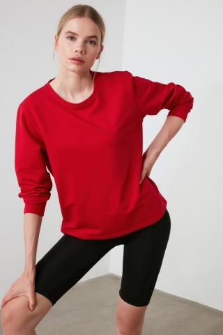 Trendyol Red Back Printed Sports Sweatshirt dámské XS
