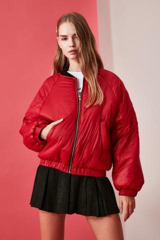 Trendyol Red Inflatable Coat dámské XS
