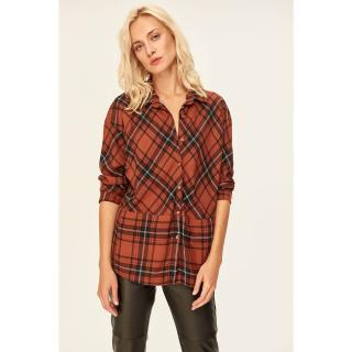 Trendyol Red Plaid Shirt dámské 36