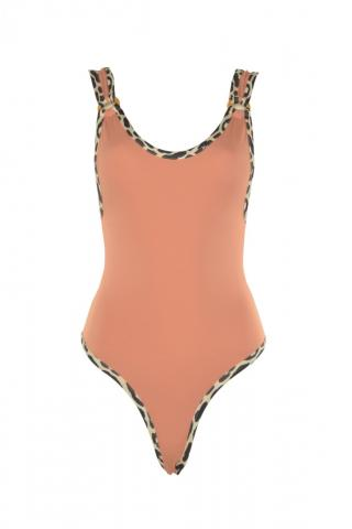 Trendyol Rose Dry Animal Patterned Swimsuit dámské 34