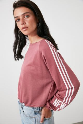 Trendyol Rose Dry Back Printed Knitted Sweatshirt dámské XS