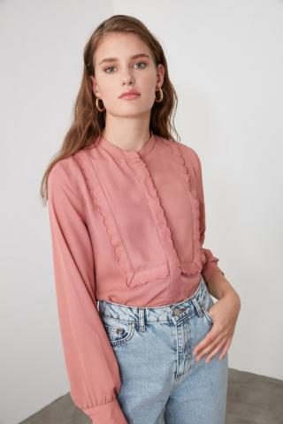 Trendyol Rose Dry Collar Detailed Shirt dámské 34