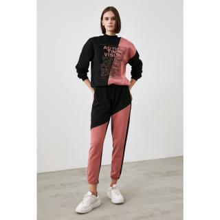 Trendyol Rose Dry Color Block Knitted Tracksuit bottom dámské S