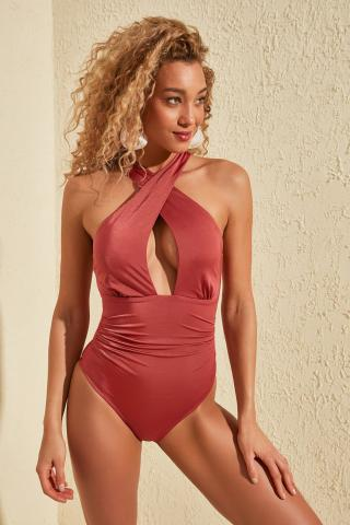 Trendyol Rose Dry Cross-Binding Swimsuit dámské 34