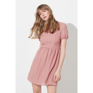 Trendyol Rose Dry Fabric Textured Flywheel Dress dámské 40