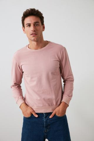 Trendyol Rose Dry Mens Back Printed Bicycle Collar Regular Sweatshirt pánské S