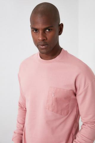 Trendyol Rose Dry Mens Bicycle Collar Pocket Detailed Sweatshirt pánské S