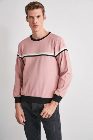 Trendyol Rose Dry Mens Bicycle Collar Stripe Sweatshirt pánské S