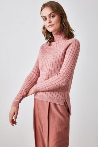 Trendyol Rose Dry Suppository Upright Collar Knitwear Sweater dámské M