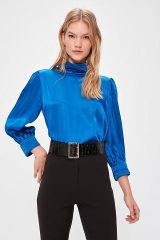 Trendyol Saks Steep Collar Blouse dámské Royal Blue 42