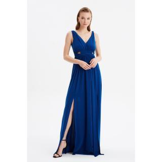 Trendyol Sax Low-Cut Detailed Evening Dress & Graduation Gown dámské Royal Blue 34