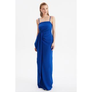 Trendyol Sax Waist Detailed Evening Dress & Graduation Gown dámské Royal Blue 34