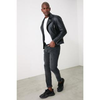 Trendyol Skinny Jeans with Grey Male Destroy 34