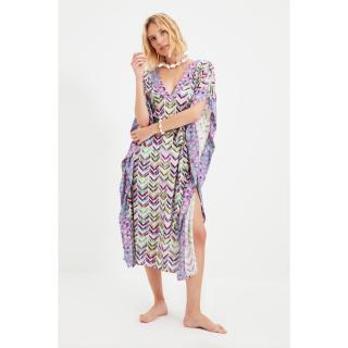 Trendyol Slit Detailed Tie Dress dámské Other L