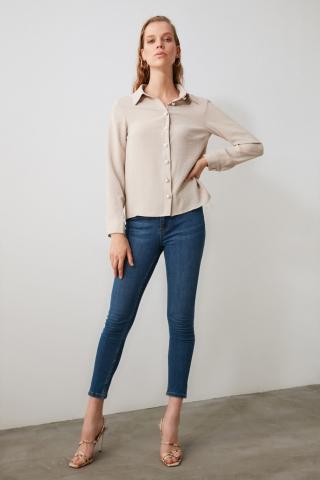 Trendyol Stone Button Detailed Shirt dámské 34