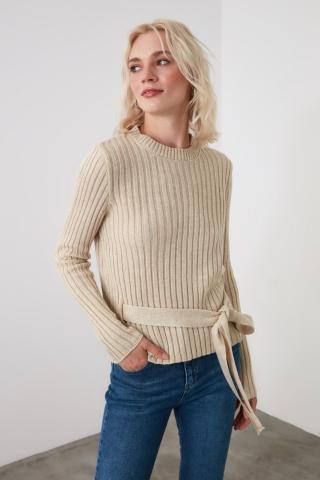Trendyol Stone Fastening Detailed Roving Knitwear Sweater dámské S