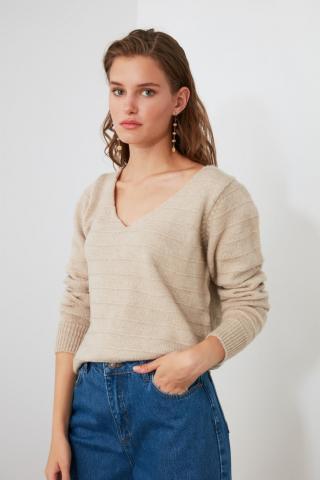 Trendyol Stone Mesh Detailed Knitwear Sweater dámské M