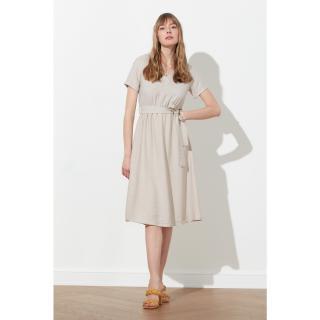 Trendyol Stone Tied Dress dámské 38