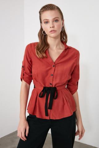 Trendyol Tdare Binding Detailed Shirt dámské TİLE 34