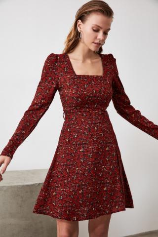 Trendyol Tdher Belt Dress dámské TİLE 42
