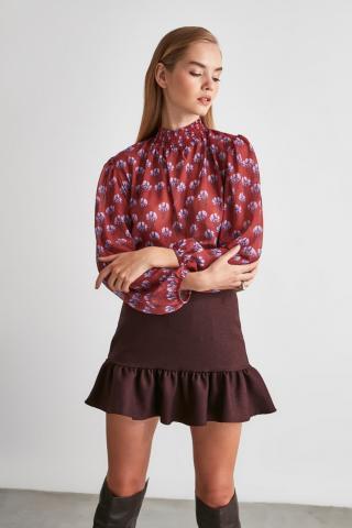 Trendyol Tile Collar Detailed Blouse dámské TİLE 34