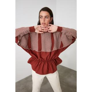 Trendyol Tile Jacchari Weaving Garnili Knitwear Sweater dámské TİLE M
