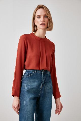 Trendyol Tile Upright Collar Blouse dámské TİLE 34
