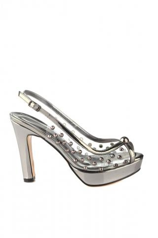 Trendyol Transparent Detailed Womens Classic Heels dámské Anthracite 38