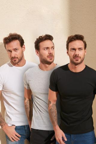Trendyol Very colorful mens Basic t-shirt-3 Multi Pack pánské S