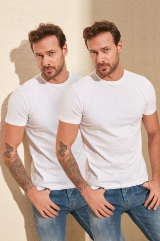 Trendyol White male 2-pack T-shirt S