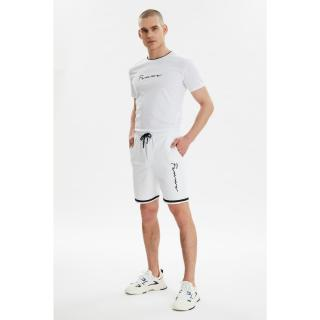 Trendyol White Mens Regular Fit Tracksuit Set pánské S
