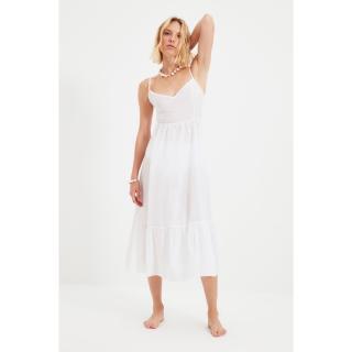 Trendyol White Tie Back Strap Voile Dress dámské Other 36